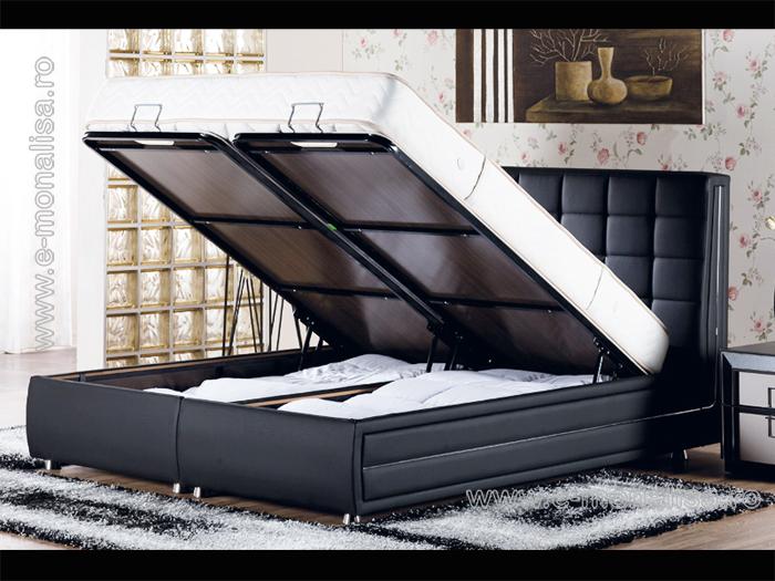 Paturi cu lada | Baza de pat cu tablie Bellona